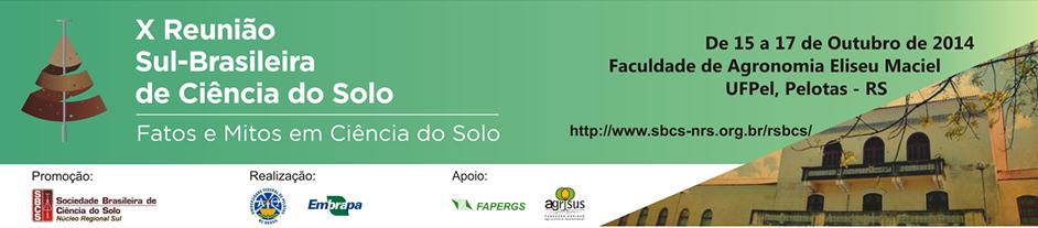 X Reunião Sul-Brasileira de Ciência do Solo